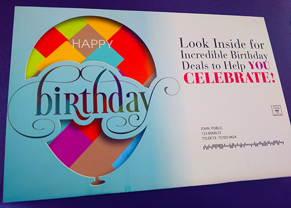 Creative birthday card