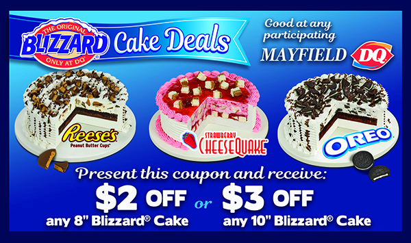 Discount coupon for Blizard Cake Deals copmany